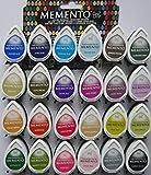 Gota de rocío Tsukineko MEMENTO tinta ganga oferta 24 colores diferentes de juego