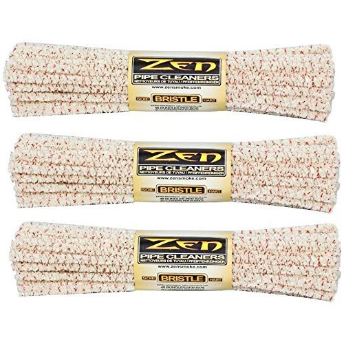 ZEN Bundles Zen Pipe Cleaners Hard Bristle, 132 Count (Pack of 3)