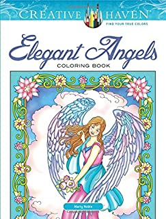 Creative Haven Elegant Angels Coloring Book