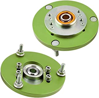 Adjustable Camber Plates Top Mounts for BMW E36 1992-1999 318i 318is 318ic 323i 323ic 323is 325i 325is 325ic 328i 328is 328ic M3 - Green