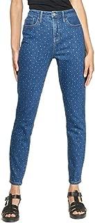 Wild Fable Women's Polka Dot High-Rise Diamante Skinny Jeans Medium Wash Long