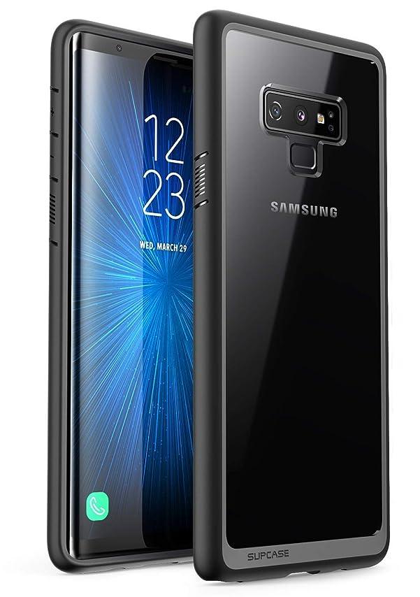 役職教育する紳士気取りの、きざなSUPCASE Galaxy note9 ケース スマートフォン ケース 超薄型携帯カバー 衝撃吸収 ギャラクシーノ-ト9 ケース 透明 (Samsung Galaxy note9, 黒)