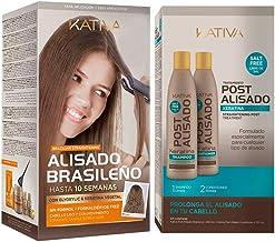 Kativa Keratina y Argán - Kit Alisado Brasileño + Post Alisado 2 uds