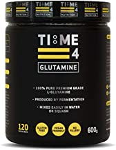 Time 4 Glutamine Powder 600g Tub Massive 120 Servings – 100 Pure Premium Grade L Glutamine – Registered By The Vegan Society – Plant Based L Glutamine Powder Estimated Price : £ 24,99