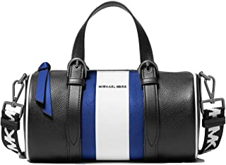 MICHAEL MICHAEL KORS Stanton Medium Striped Pebbled Leather Barrel Bag For Women