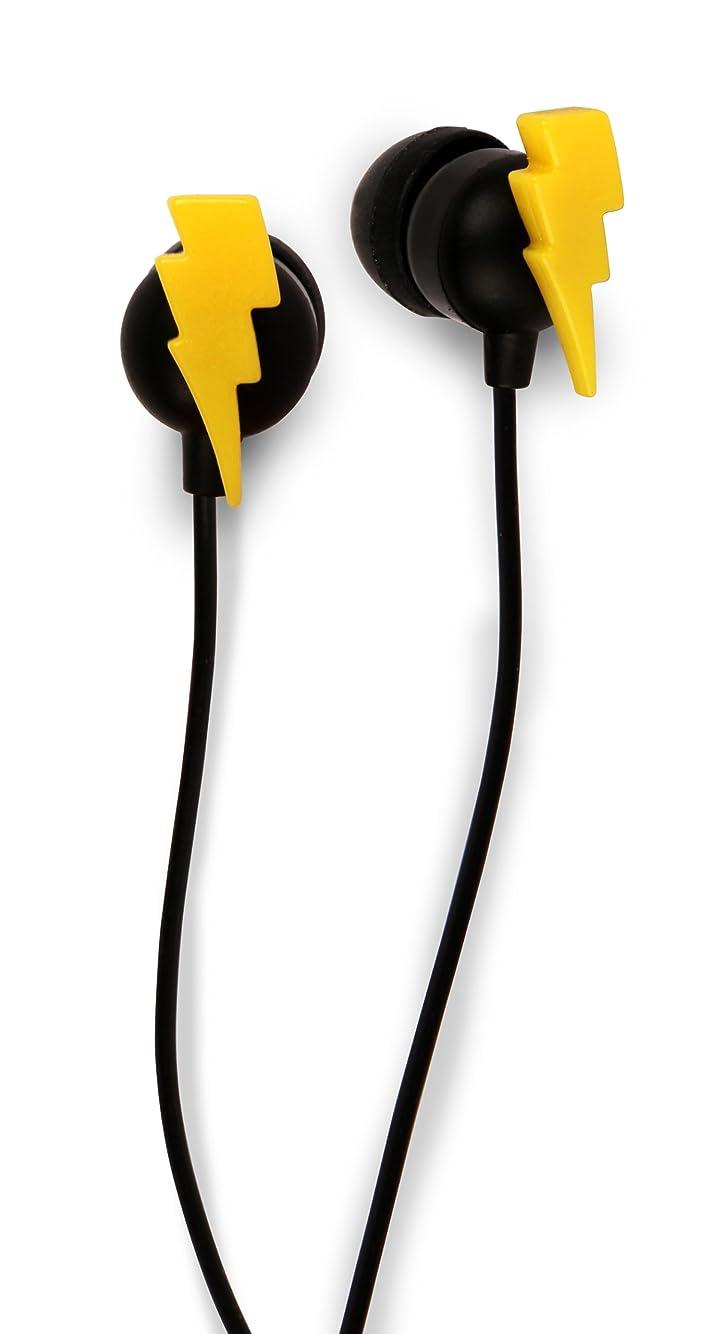 お嬢マラドロイト偶然Kikkerland US033 Bolt Earbuds - Retail Packaging - Yellow/Black