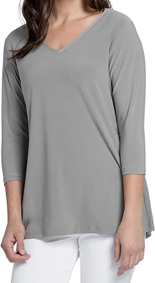 Sympli Womens Go to V-Neck T Relax Top Style 22170-2
