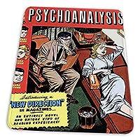 ゲーミングマウスパッド - コミックブックカバー精神分析精神科医患者カウチマインド マウスパッド おしゃれ ゲームおよびオフィス用/防水/洗える/滑り止め/ファッショナブルで丈夫 25x30cm