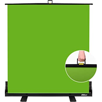 Emart Green Screen, Collapsible Chromakey Panel for Photo Backdrop Video Studio, Portable Pull Up Wrinkle-Resistant Greenscreen Background, Auto-Locking Air Cushion Frame, Solid Safety Aluminium Base