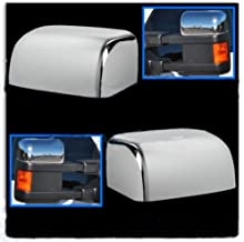 EZ Motoring Top Chrome Mirror Cover 4 Door Handle Covers for 2008-2016 Ford F250 F350 Super Duty