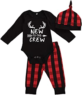 DingdandanDuo Vetements Pyjama Bebe Fille Garcon Noel Naissance Deguisement,0-24 Mois Costumes De No/ëL Combi-Short Combi-Short Chapeau Pantalon Cartoon