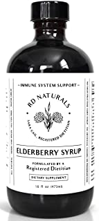 Sponsored Ad - RD Naturals™ Elderberry Syrup - Formulated by a Registered Dietitian - Made with Raw Honey, Herbs, and Spic...