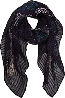 Humble Chic Sugar Skull Scarf - Long Oversized Lightweight Printed Shawl Wrap for Women