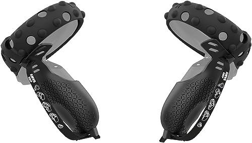 AMVR [Version Pro Housse de poignée de manette tactile et anneau de protection en silicone anti-collision pour Oculus...