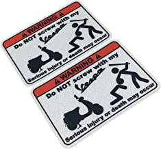 Langersun 2PCS Car Stickers Warning Do not Touch My Vespa Motocycle Bike Stickers Car Styling 9x6.2cm