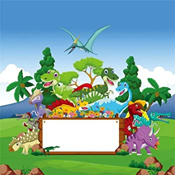 3x5ft Vinyl Godzilla Background with Pole Pocket Fabrics Can Be Washed for Kids Birthday Party Supplies Blue Cartoon Parties Banner Backdrop Photography Studio Props MLYZY001 for Party Decoration Birt