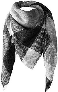 a360bd1fac9f5 Foulard Femme, Internet Mode Élégant Écharpe Tempérament Chale Femme  Cachemire Chaud Automne Hiver Grand Plaid