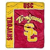 NCAA School Spirit 50' x 60' Royal Plush Raschel Throw, USC