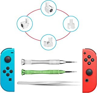Metal Lock Buckles Repair Tool Kit Compatible with Nintendo Switch NS Joy Con with Screwdrivers