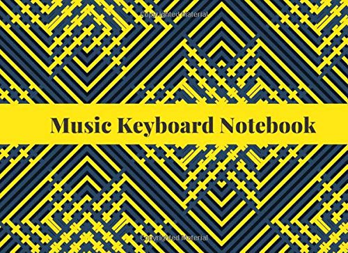 Blank Keyboard Notebook: Blank Piano Composition Manuscript Notepad Notebook, Gifts for Artistes, Musicians, Pianists, Keyboardist, Song Writers, ... 120 Pages. (Music Keyboard Journal, Band 49)