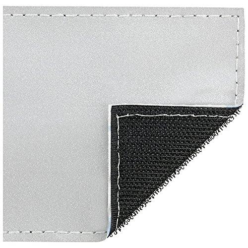 PACO Deutschland e.K. Reflexschild Rückenschild silber reflektierend mit Wunschtext 38x8cm, 42x8cm, 30x5cm Wunschtext individuell wie RETTUNGSDIENST FEUERWEHR NOTARZT etc. (30x5cm)