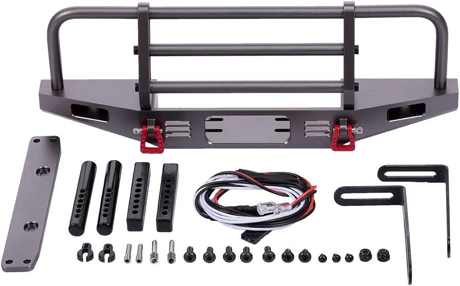 Max 55% OFF GoolRC Front Bumper Metal with 2 LED 10 for Traxxas Light 1 OFFicial store TRX-