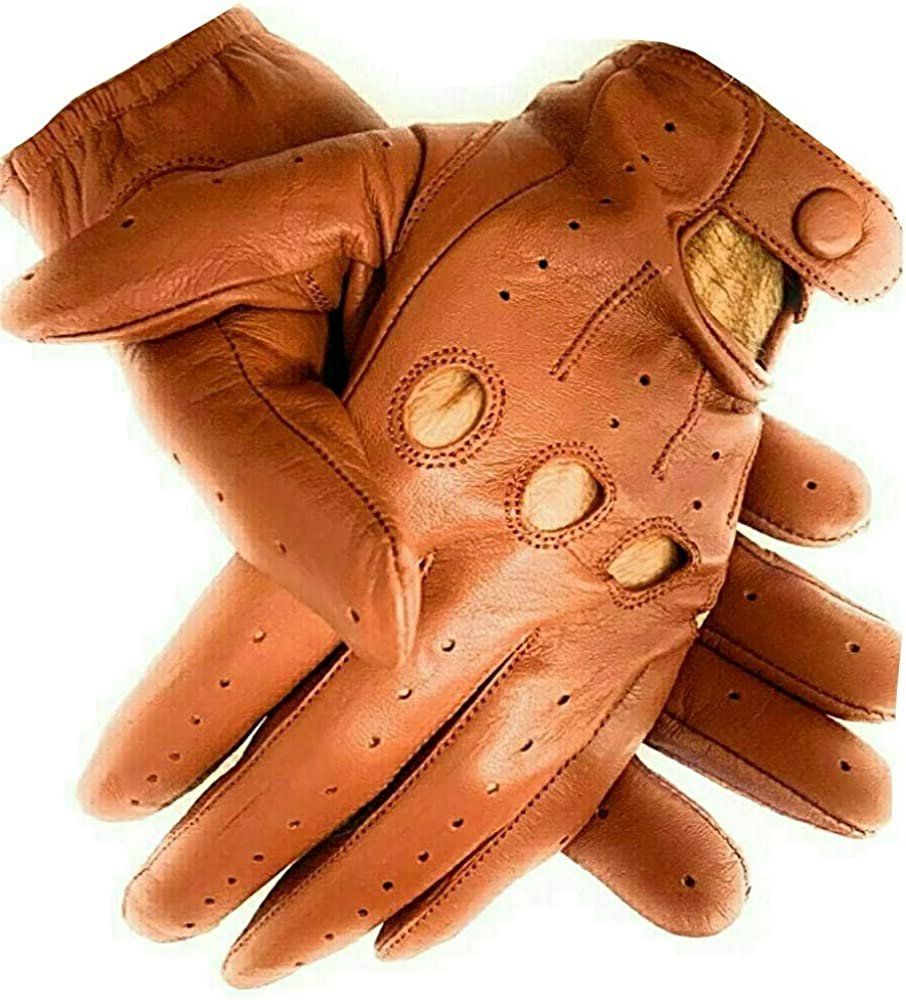 Men's Genuine Sacramento Mall Leather Driving Gloves Lowest price challenge with Knuckle Holes