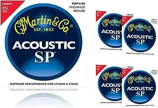 Martin MSP4100 Phosphor Bronze Light Acoustic Strings (5-Pack)