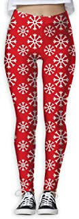 XMKWI Holiday Falling Snow Womens Power Flex Gym Yoga Pants Workout Tights Leggings Trouser