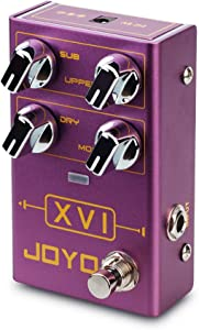 JOYO XVI R-13 R Series Octave Effect Pedal with MOD Effects and Independent Octave Up/Down Adjusting for Electric Guitar (R-13)