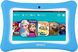 Kids Tablet, 7 Inch Tablet PC Andriod 7.1 with 1GB RAM 8GB ROM and WiFi, Kids Software iWawa Pre-Installed(Blue)