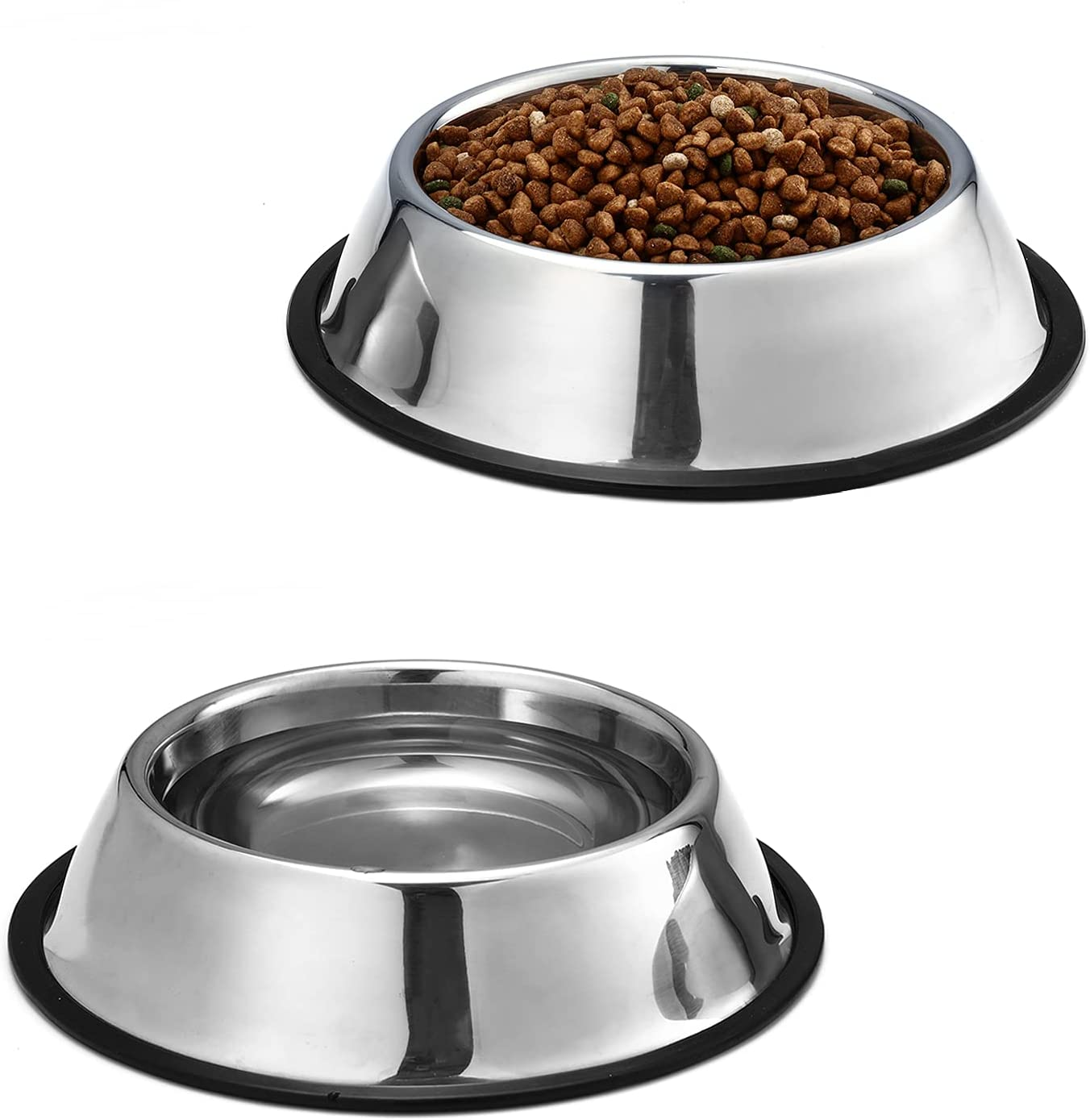 Selling rankings Guhmctt 2 Pack Non-Slip Stainless Steel Dog and a Cat Bowls Food Ranking TOP17
