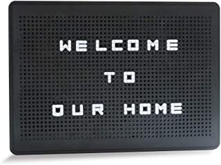 House of Quirk LED Lighted Peg Notice Board with Letters and Symbols, Personalized Light Box, Light Up Message Board for Home Decor, A4 Size Black Box with White Letter