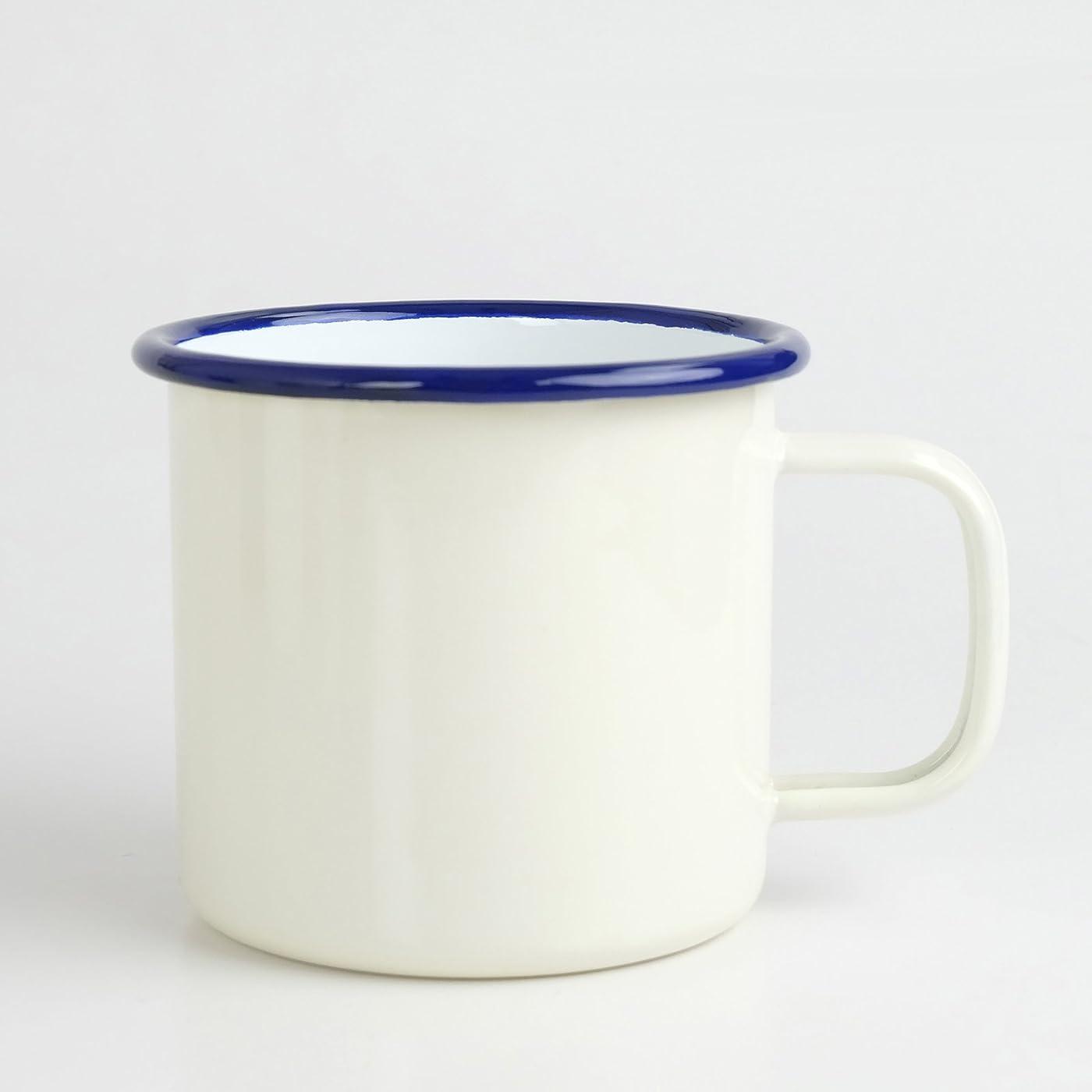 たぶん概念請願者shasta(シャスタ) ホーローマグカップ 520ml アイボリー マイカップ  インテリア アウトドア 直火可 オーブン可 食洗器対応 TWA-C-049IV
