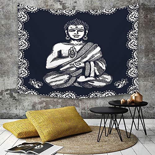 Yaoni Tapisserie Murale Hippie Décoration Tenture Couverture Pique,Paisley Mandala Decor, Design Vintage Vintage Tribal Chakra Aura Harmony,Nappe Serviette de Plage Yoga Indienne Tapestry