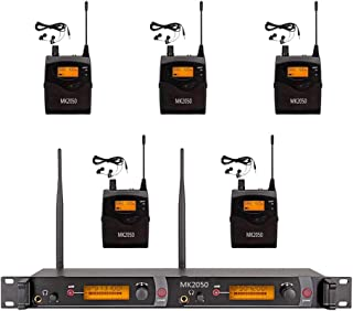 $399 Get Wireless In Ear Monitor System 5 Receivers Audio UHF MK2050 Transmitter With 80 Channel Monitoring Recording Studio Stage Pro Audio Musical 572-603 MHz Two Year Free Warranty