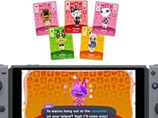 24pcs Animal Crossings New Horizons Series 1-4 NFC Cards, New Horizons Game Rewards Cards, Switch/Lite Wii U 3DS