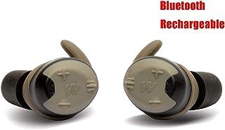 Walker's Silencer Auriculares Digitales Bluetooth Recargable, NRR23dB, avisos de Voz, compresión activada por Sonido