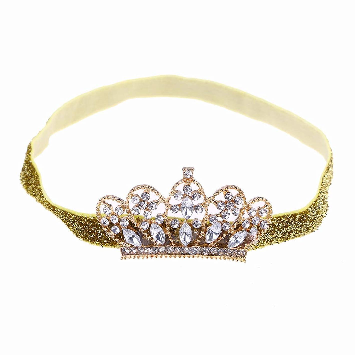 ちなみに時間固執Beaupretty Baby Girls Rhinestone Crown Headband Elastic Tiara Hairband Headdress