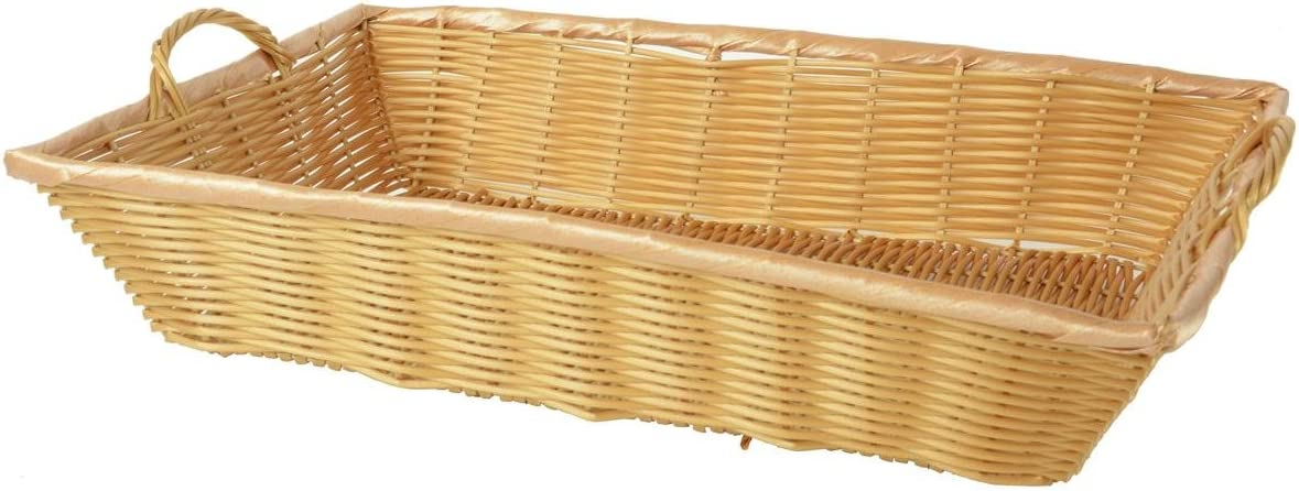 Displays2go Plastic Coated Wire Woven Bread 2 Handle with New products, world's highest quality popular! Super Special SALE held Basket