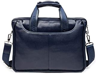 Leather Briefcase,Laptop Handbag,Messenger Business Bags for Men,Leather Business Handbag