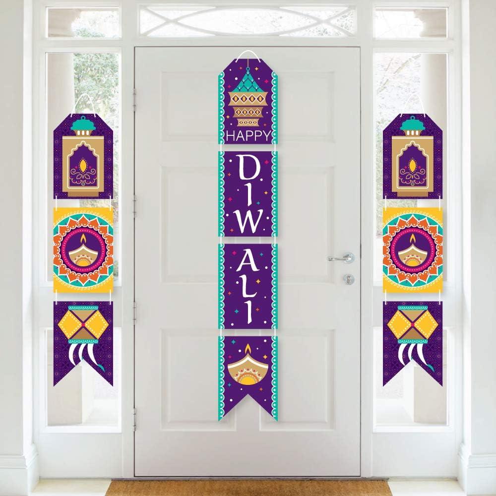 Big Dot of Happiness Happy Diwali - Hanging Vertical Paper Door Banners - Festival of Lights Party Wall Decoration Kit - Indoor Door Decor