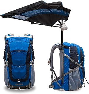 Mochila de senderismo para deportes al aire libre de 40L construida en Umbrella, Mochila multifuncional de manos libres con sombrilla para parasol Mochila de enfriamiento con Ventilador incorporado