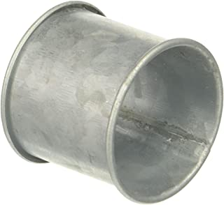 SARO LIFESTYLE Galvanized Design Rustic Style Metal Napkin Ring (Set of 4), 2.5