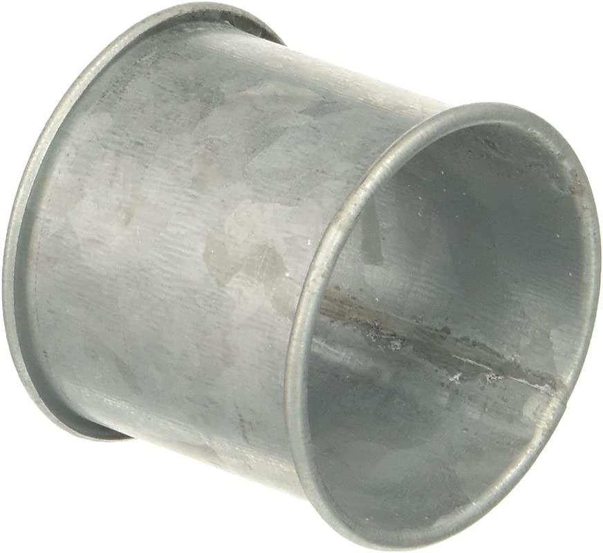 SARO LIFESTYLE Galvanized Design Rustic Style Metal Napkin Ring Set Of 4 2 5 X 3 5 Silver
