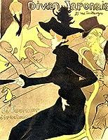 絵画風 壁紙ポスター (はがせるシール式) ロートレック ディヴァン・ジャポネ ポスター 1892年 キャラクロ K-LRB-005S2 (456mm×594mm) 建築用壁紙+耐候性塗料