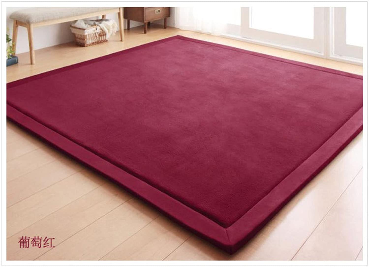 Tatami thickened plush living room floor mat carpet Creeping mats Bedroom mats-C 80x200cm(31x79inch)