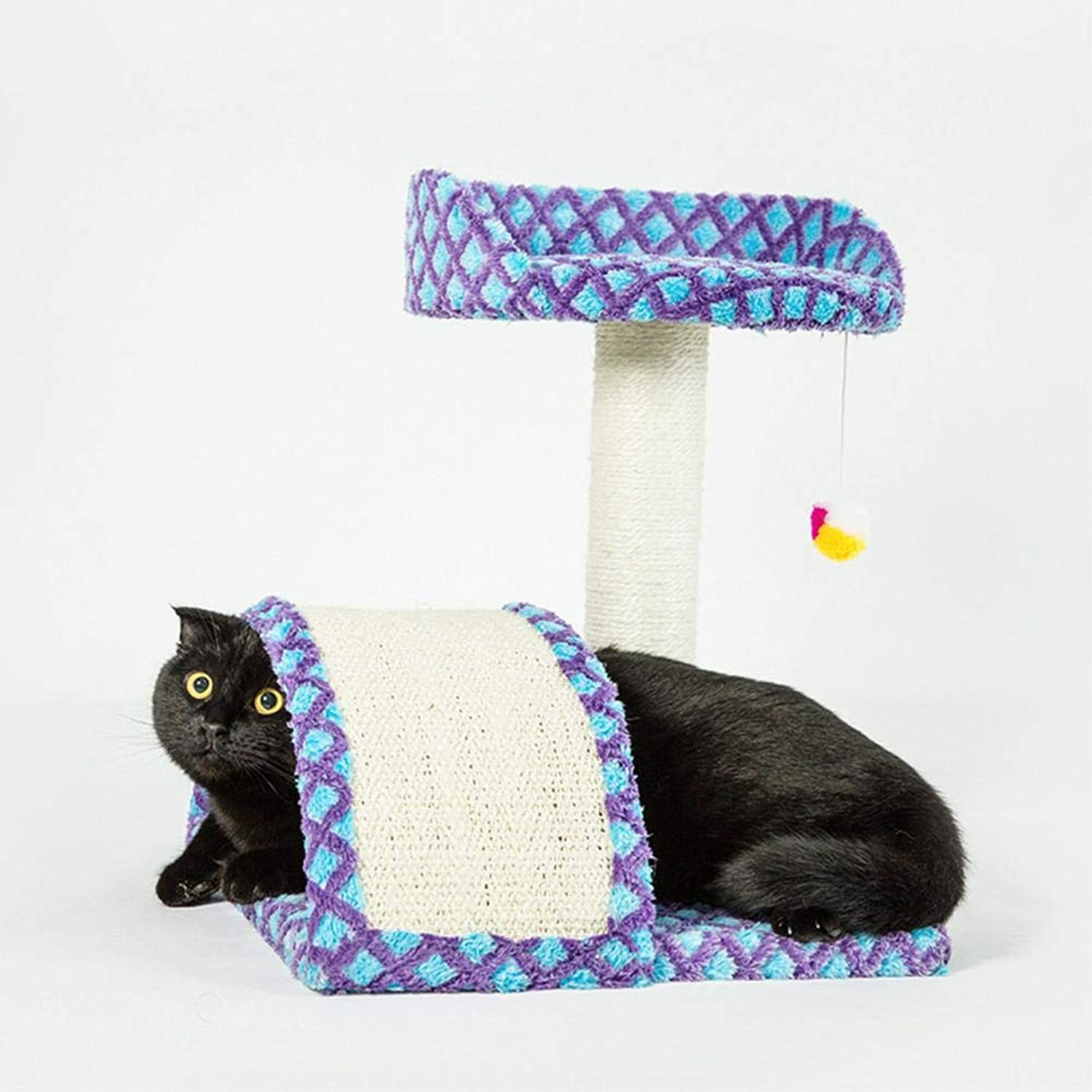 Oddity Pet Toys  Kitten Climbing Frame, Claw Toy, Playing with Small Hanging Ball, Cat Pet Supplies