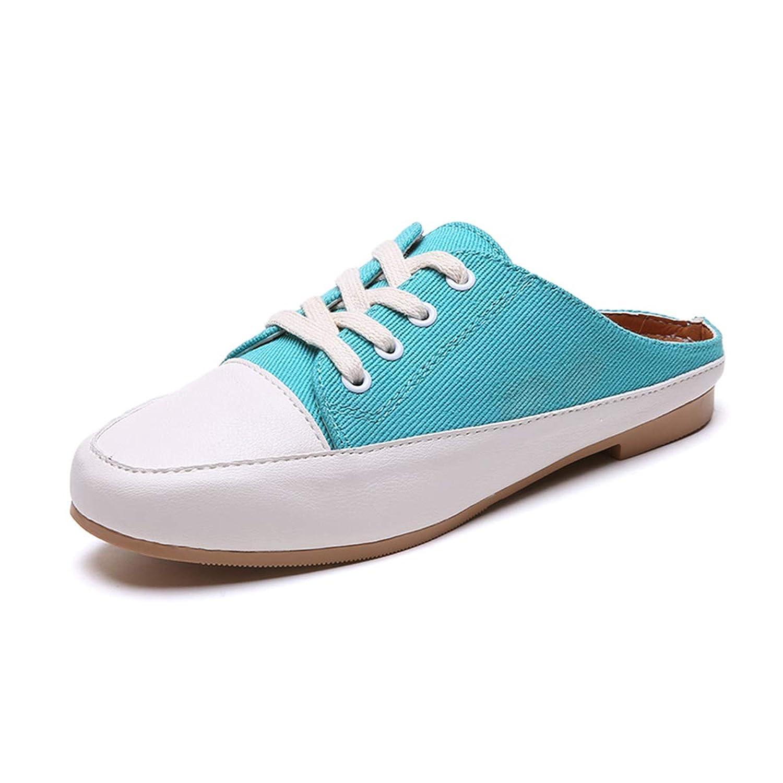 [Ruisi] レディース スポーツシューズ ジョギング ファッション スリッパ 軽量 通勤通学 防滑 厚底 美脚 女子 ズック靴(22.5cm-25.0cm)