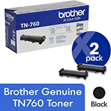 $145 » Brother Genuine TN760 2-Pack High Yield Black Toner Cartridge with Approximately 3,000 Page Yield/Cartridge
